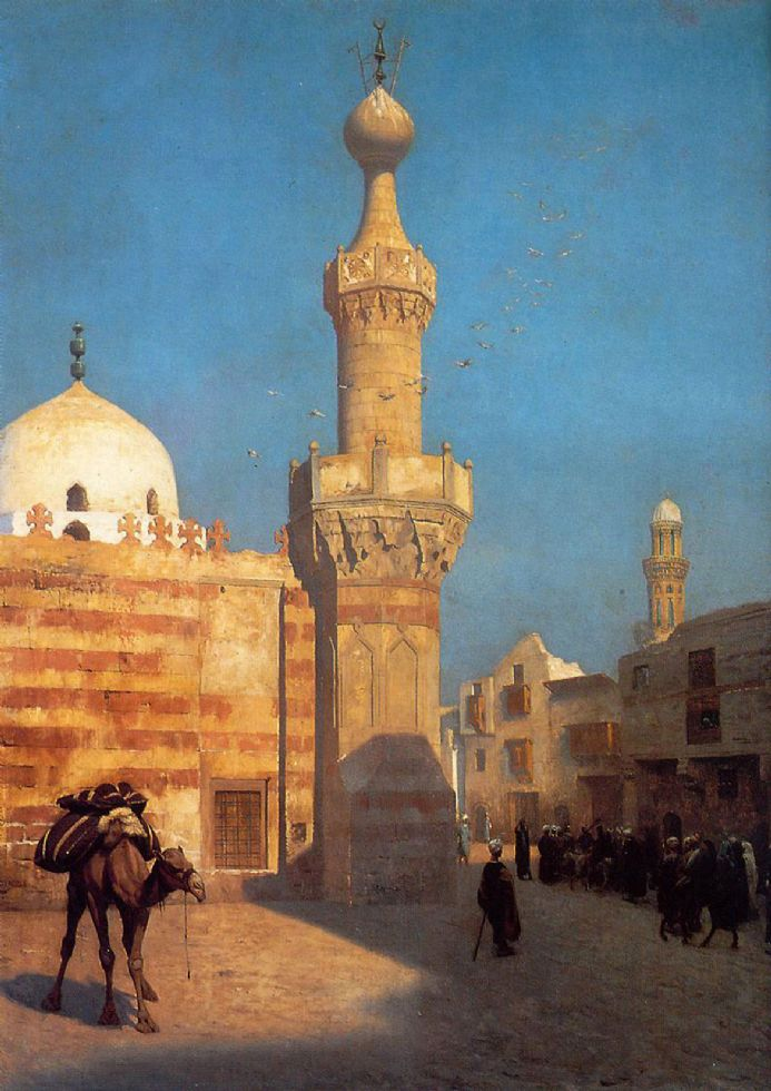 Gerome, Jean Leon: A View of Cairo. Fine Art Print/Poster. Sizes: A4/A3/A2/A1 (001407)
